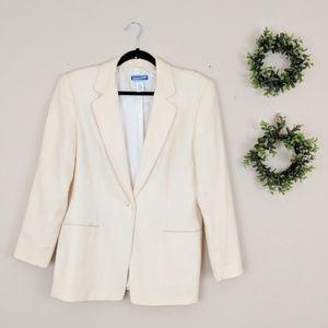 Pendleton | Cream 100% Wool Blazer L